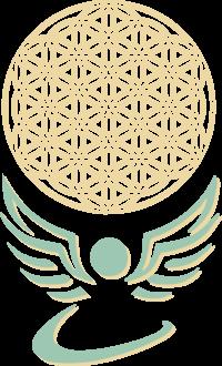 Logo Athena engel met leverbloem
